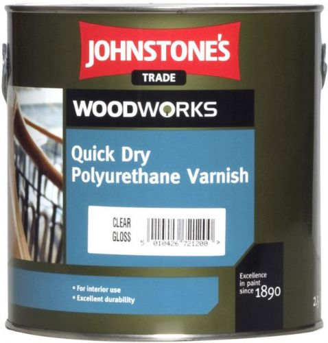 JOHNSTONES QUICK DRY VARNISH CLEAR GLOSS 750ml 302177